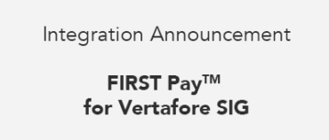 Merit Insurance integrates with FIRST Canada's FIRST Pay™ for Vertafore SIG